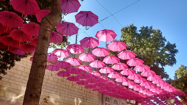 upcycled art umbrellas